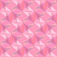 Pink triangulate abstract geometric pattern