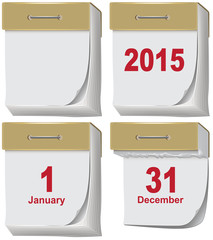 Set of tear-off calendar