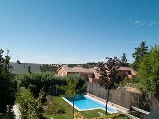 Zona residencial, Torrelodones, noroeste Madrid,España