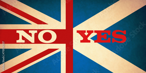 canvas print picture Scotland's Referendum No or Yes