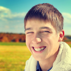 Cheerful Teenager Portrait