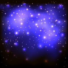 Blue starry background