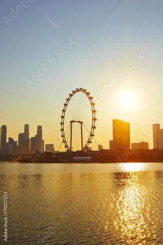 Fotobehang Singapore Sunset in Singapore