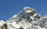 Beautiful view of Mount Everest (8848 m) Nepal, Himalayas.