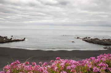 black sand beach of Tenerife