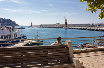 Nice Port, France, from a Bench