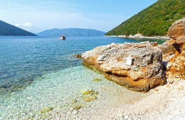 Summer view from Antisamos beach (Greece,  Kefalonia).