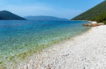 Summer view of Antisamos beach (Greece,  Kefalonia).