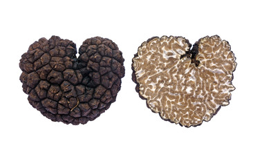 heart shaped black truffle