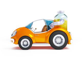 orange soda car