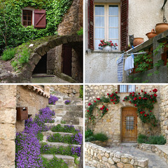 Charm of Provence in detail, collage