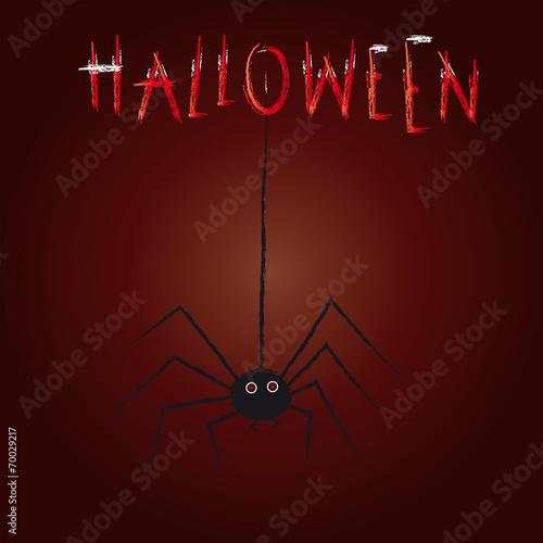 Fototapeta Happy Halloween - Halloween, Süßes oder Saures, Grusel und Furcht, Schrecken mit Spinne in der Nacht