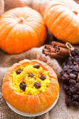 rice porridge in the pumpkin