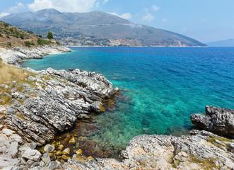 Summer sea coast landscape  (Greece)