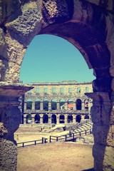Pula arena. Cross processing color tone.