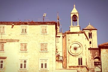 Split, Croatia. Cross processing color tone.