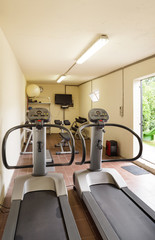 Gym with special equipment