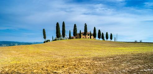 tuscan village under sky