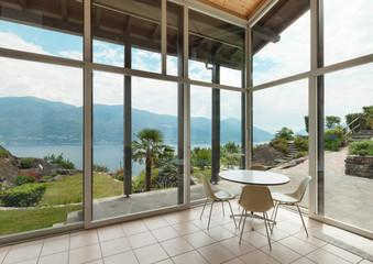 modern architecture; interior; veranda