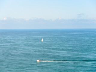 view of english channel near cote d'albatre coast