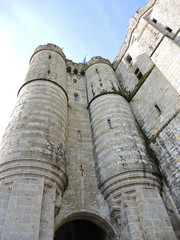towers of abbey mont saint-michel in Normandy