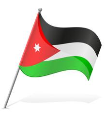 flag of Jordan vector illustration