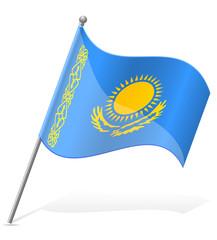 flag of Kazakhstan vector illustration