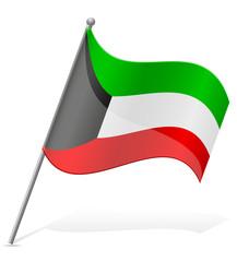flag of Kuwait vector illustration