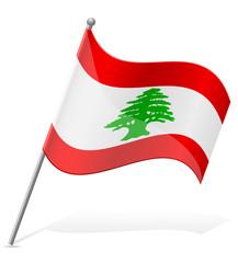 flag of Lebanon vector illustration