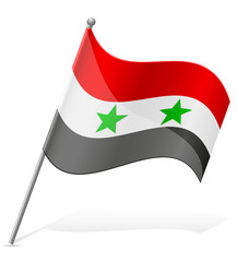 flag of Syria vector illustration