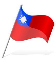 flag of Taiwan vector illustration