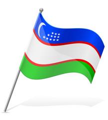 flag of Uzbekistan countries vector illustration