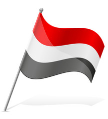 flag of Yemen vector illustration