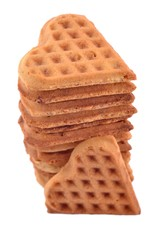 Stack of sweet waffles