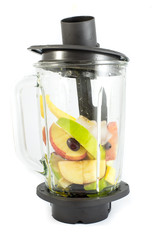 Electric blender with fruits