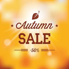 Autumn sales vector background
