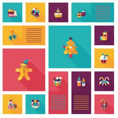 Happy Christmas flat app ui background,eps10