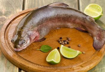 Rainbow trout with lime