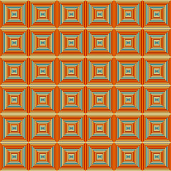 Seamless Squared Orange Pattern