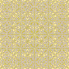 Golden floral pattern seamless background