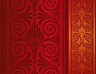 paisley floral pattern , wedding card , royal India