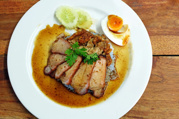 Char siew and roasted pork with rice