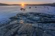 sunrise, coastal rocks at St. Anthony, Newfoundland