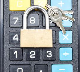 замок блокировка и калькулятор