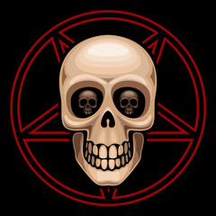 Skull and pentagram