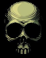 Skull engraving imitation