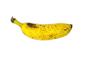Banana over white background.