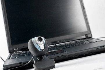 Laptop with webcam