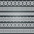 A set of border decoration elements patterns