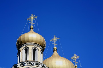 Romanov church domes,Vilnius